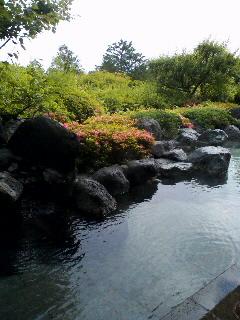 景色のいい露天風呂