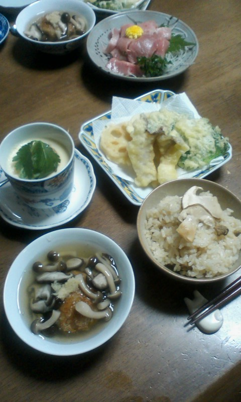 松茸の季節(≧∇≦)